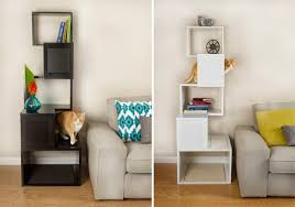modern cat tree and climbing shelves from designer pet products