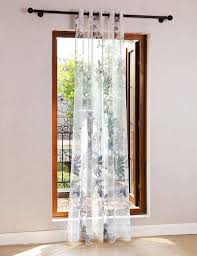 online shop christmas faux linen leaves printed tulle curtains for