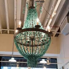 Beaded Turquoise Chandelier Chandeliers Luxe Home Philadelphia