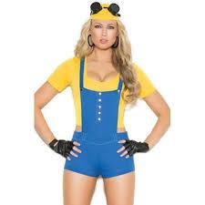 Minion Costumes Halloween Women U0027s Despicable Minion Costume Walmart
