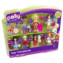 polly pocket friends 7pk play features polly
