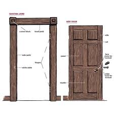 Repair Interior Door Frame How To Replace A Door Jamb Replace Door Frame Garage Door Frame