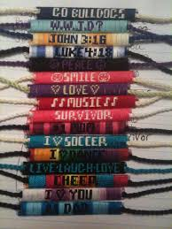 bracelet made with thread images Name bracelets custom made friendship bracelets jpg