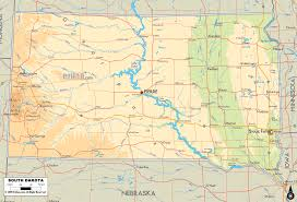 South Dakota rivers images Physical map of south dakota ezilon maps gif