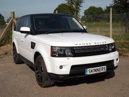 white land rover black rims used 2013 land rover range rover sport sdv6 hse black edition for