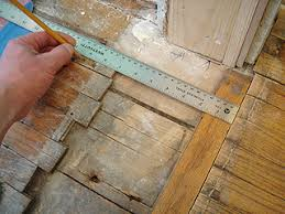 a repair patch in thin hardwood flooring