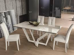 ceramic top dining room tables contemporary priamo extending dining table with a ceramic top by