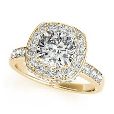 Vintage Style Cushion Cut Engagement Rings Yellow Gold Engagement Rings 14k U0026 18k Diamonds U0026 Cz