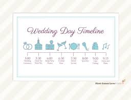 wedding itinerary for guests wedding day timeline card itinerary for guests big day