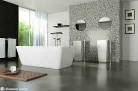 large 0 bathroom with polished concrete floor on bathroom design