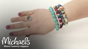 beaded bracelet jewelry images Make a beaded bracelet jewelry accessory ideas michaels jpg