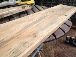 Wood Plank Shelves by Scaffold Plank Shelving