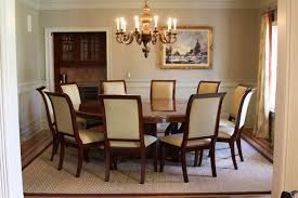 Round Dining Room Sets For  Dining Rooms - Black dining table for 8