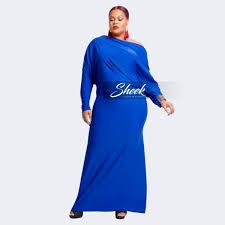 shelia long multi wrap convertible dress royal sheek plus size
