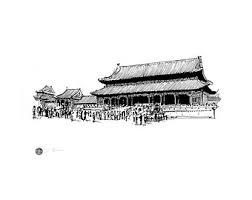 great wall of china china pen and ink drawing produced as