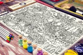 coloring page for kids big cat coloring poster for kids