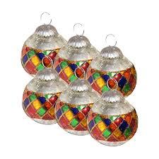 Glass Christmas Ornament Sets - giftbay 148 s 6 glass christmas tree ornament set of 6 pcs an antiqu