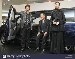 toyota motor group toyota motor corporation president fujio cho c poses with