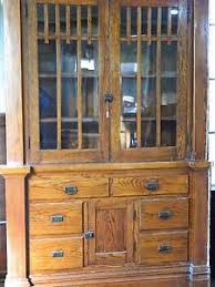 antique buffet craftsman sideboard built in cabinets mission