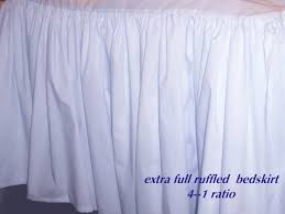 White Ruffle Bed Skirt Solid Light Silver Gray Colored Bedskirt In All Sizes From Twin