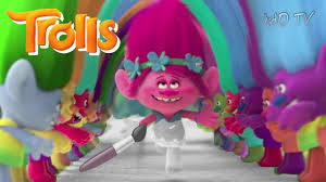 dreamworks trolls coloring book poppy troll running coloring