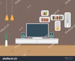 living room furniture interior design vector stock vector