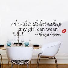 online shop 1pc home decor paper smile makeup marilyn monroe quote
