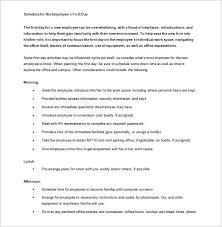 Orientation Template Word orientation schedule templates 11 free word excel pdf format