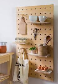 bocaux decoration cuisine design interieur panneau perfore beton idee rangement cuisine