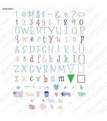 cricut lyrical letter cartridge cricut fonts cricut and fonts