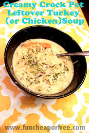 what can i make with thanksgiving leftovers creamy slow cooker turkey soup made from thanksgiving leftovers