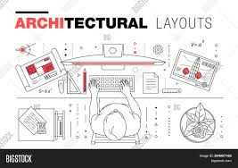 architectural layouts architectural layouts trendy vector photo bigstock