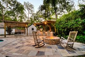 two post pergola patio traditional with brick fire pit covered