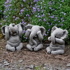 wise elephant speak see hear no evil set of 3 garden
