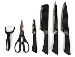 kitchen knive sets everrich black kitchen knife set of 6 sharp knives scissors non