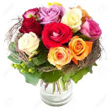 Bouquet Of Roses Beautiful Bouquet Of Roses In A Vase Stock Photo Picture And
