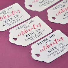 favor tags personalized gift tags thank you wedding tag 100pcs set customized