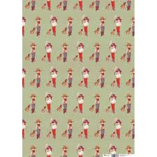 cowboy wrapping paper cowboys wrap 4 sheets boo