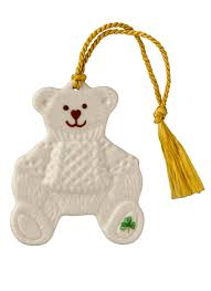 belleek teddy bear ornament blarney