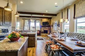 Kitchen Table Dallas - gehan homes kitchen country chic dark wood cabinets tan