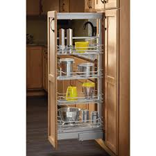 Roll Out Pantry Shelves rev a shelf 14 in chrome 4 basket pull out pantry with soft close