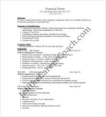 Free Administrative Assistant Resume Templates Resume Template For Medical Assistant Medical Resume Templates To