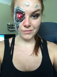 Halloween Makeup With Liquid Latex by I Was The Terminator For Halloween D Album On Imgur