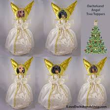 angel christmas tree topper dachshund angel christmas tree toppers