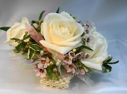 corsage flowers heart of pearls wrist corsage flowers from the heart