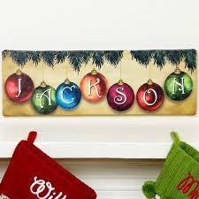 personalized christmas personalized christmas ornament canvas wall decor walmart