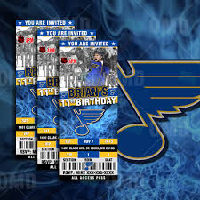 sports invites st louis blues ticket style sports party invitations