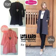 blazer wanita muslimah modern busana muslim terbaru lota kardi grosir baju muslim pakaian