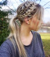 hair styles in two ponies 30 fantastic french braid ponytails