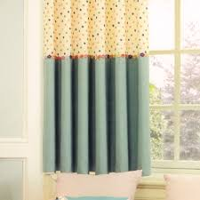 Window Treatment Ideas For Children Dots For Bay Window Curtains Ideas For Kids